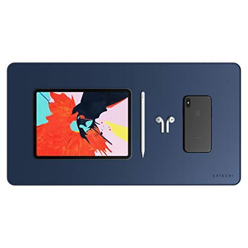 """Satechi Deskmate de Cuero Ecológico 23"""" x 12.2"""" – Protector de Escritorio – Seguro para superficies de madera lacadas y barnizadas (Azul)"""