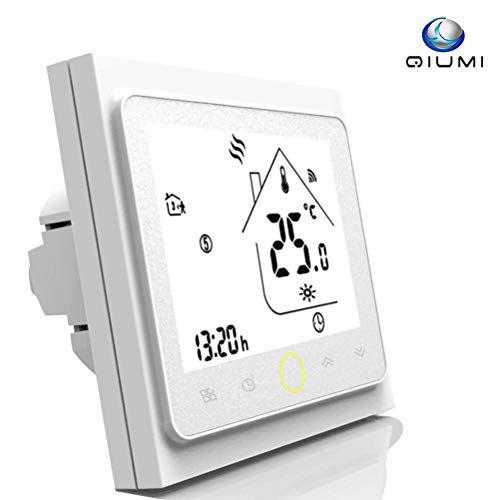 Wifi Thermostat programmable pour individuel gaz/Chauffage Chaudière Compatible avec Alexa/Google Accueil Sécher Contact 5A