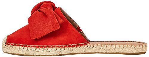 find. Bow Mule Leather Espadrille Sandalias Punta Cerrada, Rojo Red, 40 EU
