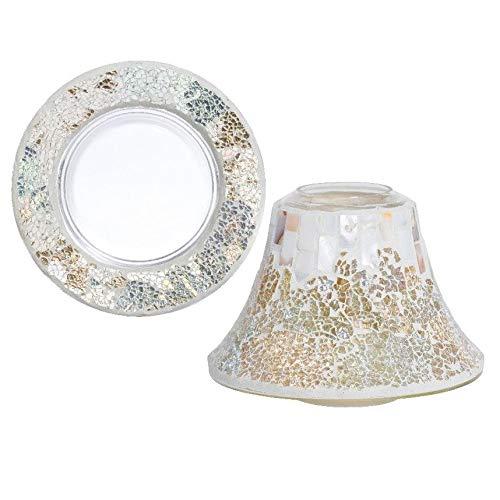 Paralume + piattino Gold & Pearl Mosaic di Yankee Candle