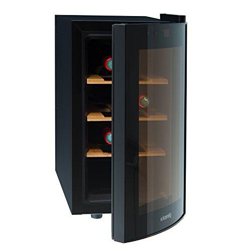 H.Koenig AGE8WV Cantinetta per 8 Bottiglie, 25L,3 ripiani, Temperatura 8-18C, Silenziosa 74DB,...