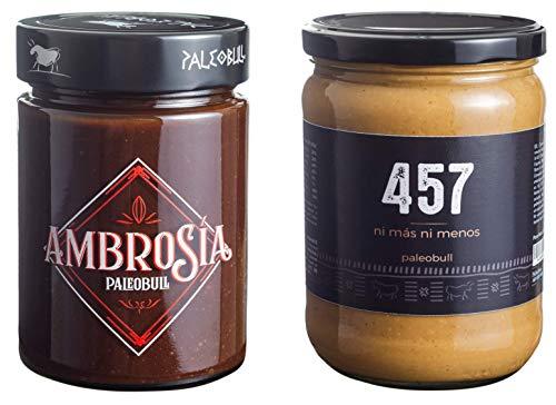 Pack Crema de Cacao y Avellanas Saludable Ambrosía 300 g y
