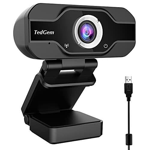 Aiglam Webcam, Webcam PC 1080P Cámara Web de Alta Definiciócon...