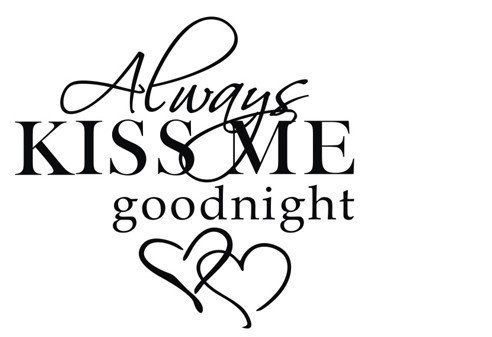 MAFENT Always Kiss Me Goodnight Quotes Wall Decals Peel and Stick Wall Stickers Bedroom Home Decor