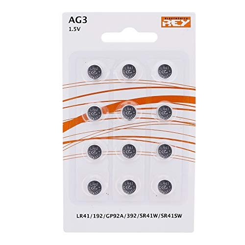 Pack de 12 Pilas AG3 1.5V Alcalinas Tipo Botón de Litio, LR