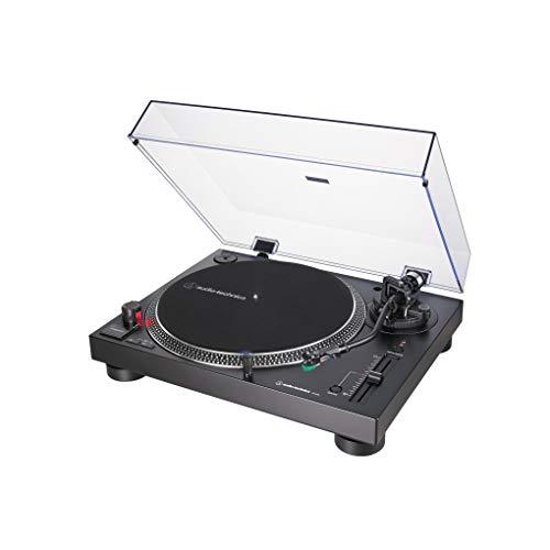 Audio-Technica AT-LP120X Piatto Audio Giradischi a Trasmissione Diretta, Nero, Analogico e USB