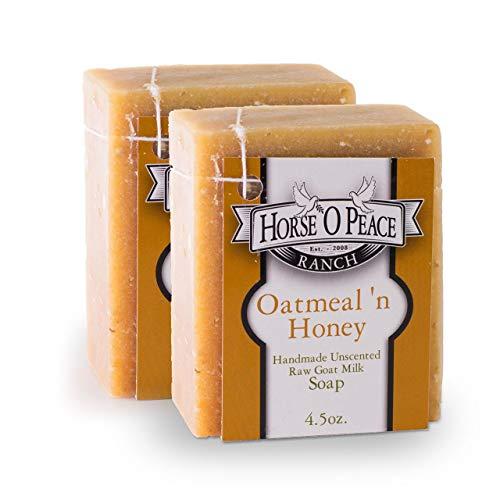 Handmade Goat Milk Soap Oatmeal 'n Honey Soap (2...