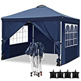 Hikole Tonnelle de Jardin Tente Pliante imperméable 3x3m Tente Reception avec 4...