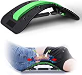 Back Stretcher, CAMTOA Back Pain Relief Lumbar Support Stretcher Updated Free Adjustment Spine Deck Back Stretching Device Multi-Level Spinal, Lower and Upper Back Massager for Bed & Chair & Car