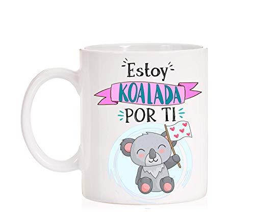 Taza Koala. Estoy Koalada por ti. Taza divertida de desayuno para regalo de enamorados muy divertida. Ideal para novios o novias. Con caja divertida a juego