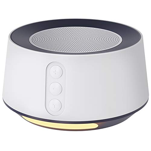 Letsfit White Noise Machine with Night Light for Sleeping, 14 High Fidelity Sleep Machine Soundtracks, Timer & Memory Feature, Sound Machine for Home, Office