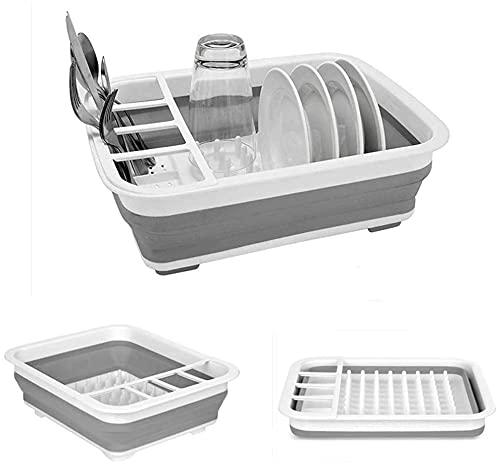 Collapsible Dish Drying Rack Portable Dish Drainer Dinnerware...