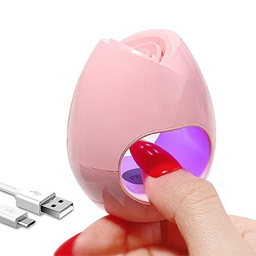 Mini UV LED Nail Lamp, Portable USB Nail Dryers Mini Quick-Drying Nail Curing Lamp for Gel Nails Polish 16W UV Nail Dryer for Single Finger