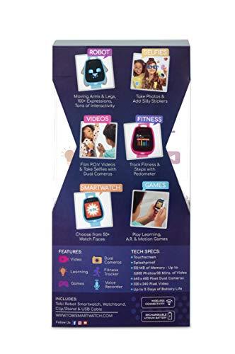 Image 11 - Little Tikes Montre connectée Robot Tobi pour les enfants, équipée d'une caméra digitale, d'une vidéo, de jeux & activités pour garçons et filles – Bleu. Dès 4 ans et +