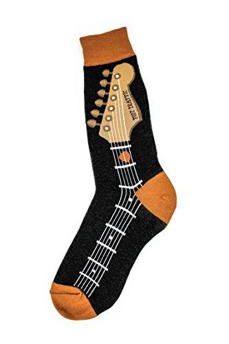 Foot Traffic, Men's Music-Themed Socks, Guitar Neck (Shoe...