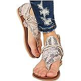 qiubi 2021 Newest Sandales Plates Femmes Confortables Orthopedique Chaussures Plateforme - Été Sandales Femmes Sandales Plates Toe T-Sangle Comfy Semi Trailer...