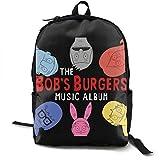 Yaxinduobao Mochila clásica de moda Bob Burgers Traveling Backpack College Backpack Student Bookbag Multipurpose Daypacks Black