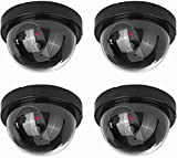 NONMON Fake Dummy Dome Camera Homes & Business Security CCTV Cameras with Flashing Red LED Light for...