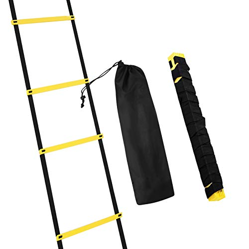 Microacry 4M Agility Ladder Foot Speed Ladder Football Training for Kids Adults Exercise Trainer Kit