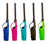 Elite Brands USA Long Lighters Pack, 5 Pack of Butane Refillable Fire Lighters, Ideal as Multipurpose Utility Lighters BBQ Lighters Grill Lighters Kitchen Lighters