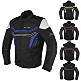 JAYEFO MOTORCYCLE WINTER JACKET (BLUE, MEDIUM)