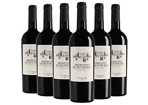 Primitivo di Manduria Riserva DOC Collezione del Conte Villa da Filicaja 2016 6 bottiglie da 0,75 L