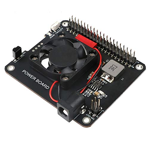 MakerFocus-Raspberry-Pi-4-Power-Expansion-Board-DockerPi-Power-Board-20W5V-4A-Power-Supply-Safe-Shutdown-with-Cooling-Fan-Infrared-Remote-Control-Compatible-with-Raspberry-Pi-4-and-3B