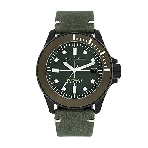 SPINNAKER Spence Herren-Armbanduhr 41.5mm Armband Leder Automatik SP-5063-03