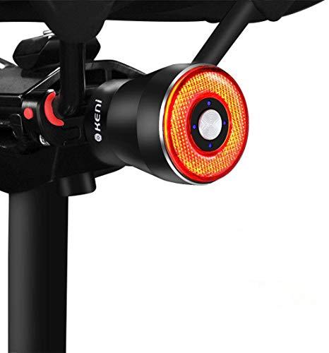 テールライト 自転車 G keni ブレーキランプ アルミ合金製 自動点滅 自動消灯 高輝度 長時間連続点灯 USB充...