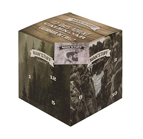Man'Stuff Cube Advent Calendar, Perfect Gift For Any Man, Men's Advent Calendar 12 Days Of Christmas, Men's Body Care Advent Calendar