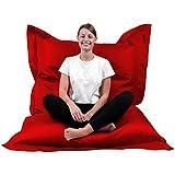 XL-XXXXL Coussin de sol pour chaise d'extérieur, rouge, XXXL= 180 x 145