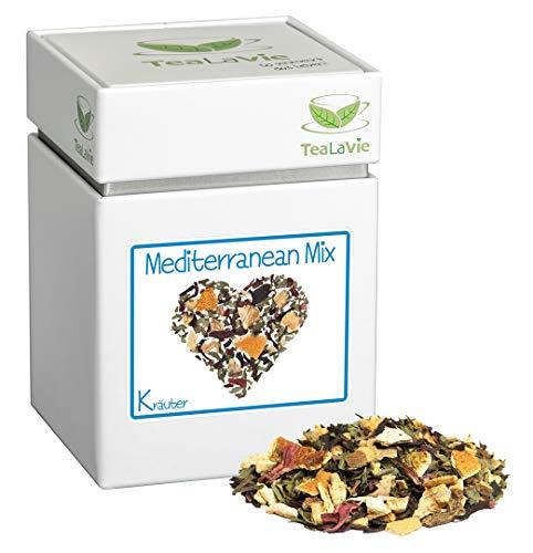 TEALAVIE - Kräutertee lose | Mediterranean Mix - erfrischend leicht süß | 90g Dose loser Kräuter Tee