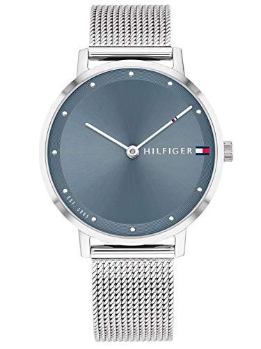 Tommy Hilfiger Damen Analoger Quarz Uhr mit Edelstahl Armband 1782149
