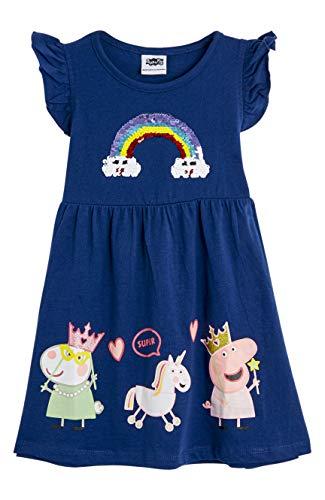 Peppa Pig Vestido para Niñas Verano   Conjunto Infantil Rosa Sin Mangas   Vestidos Niña Verano Algodón   Vestido con Arco Iris Regalo para Niñas De hasta 7 Años (3/4 años)