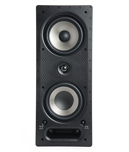 Polk Audio 265-RT 3-way In-Wall Speaker - The Vanishing Series   Easily Fits in Ceiling/Wall   High-Performance Audio - Use in Front, Rear or as Surrounds   With Power Port & Paintable Grille