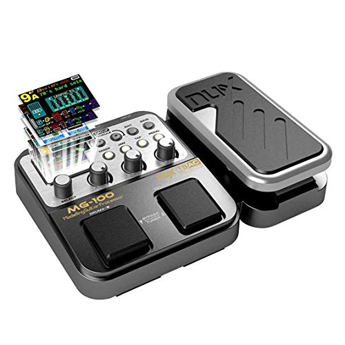 L&Z MG-100 Professional Multi-Effects Pedal Processor Musical Instrument Parts 58 Drum Types 55 Effect Mode 40s Record 10 Sound Di Box Electric Guitar and Bass Loop Amplifier Tube Pedal UK Plug