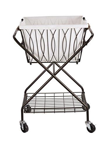Artesa 5187033 Verona Collapsible Metal Laundry Cart with...