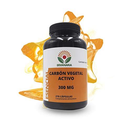 Ervanaria Carbón Vegetal Activado 300 Mg 270 Capsulas, mejo