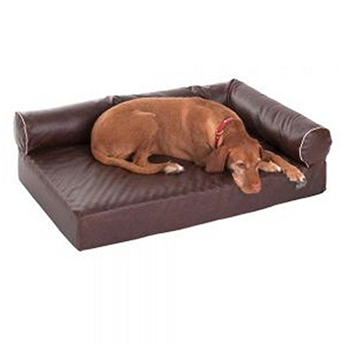 Divan Wellness Comodo Letto Ortopedico Memory Foam Dog W/sfoderabile in Ecopelle Marrone, Effetto...