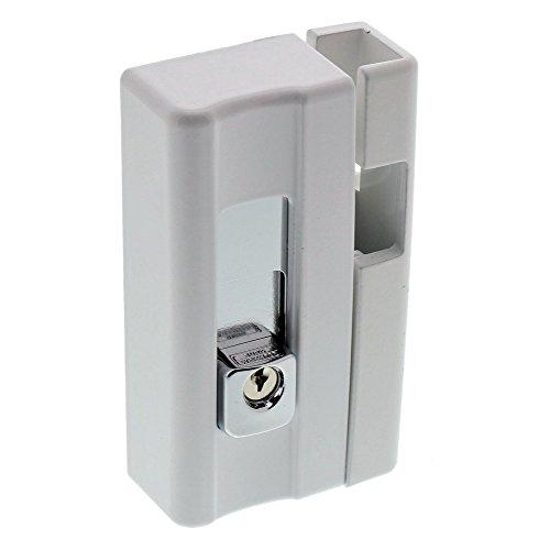 Burg-Wächter Massive Fenstersicherung, VDs-anerkannt, Präzisions-Zylinderschließwerk, BlockSafe B1 W SB