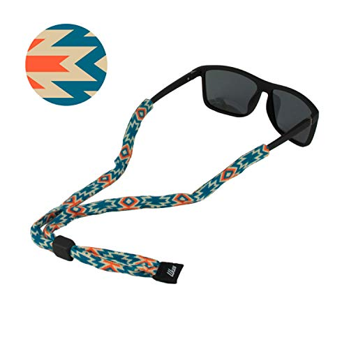 Ukes Premium Sunglass Strap - Durable & Soft Eyewear Retainer Designed with Cotton Material - Secure fit for Your Glasses and Eyewear. (The Aztecs)