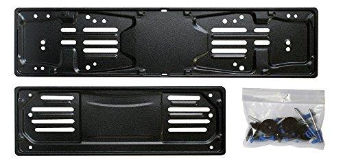 Cora 000116007 Set Portatarga 99, Metallo Anteriore e Posteriore con Kit Fissaggio