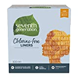 Seventh Generation Pantiliners, Chlorine Free, 100 Count (Packaging May Vary)