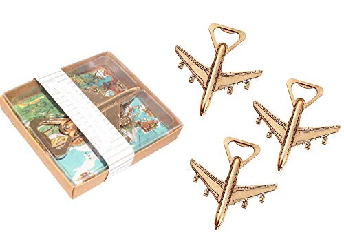 Pack of 12 Airplane Bottle Opener with Gift Box Air Plane...