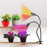 LED Grow Light for Indoor Plants,Full Spectrum Dual Head Desk Clip Plant Light for...