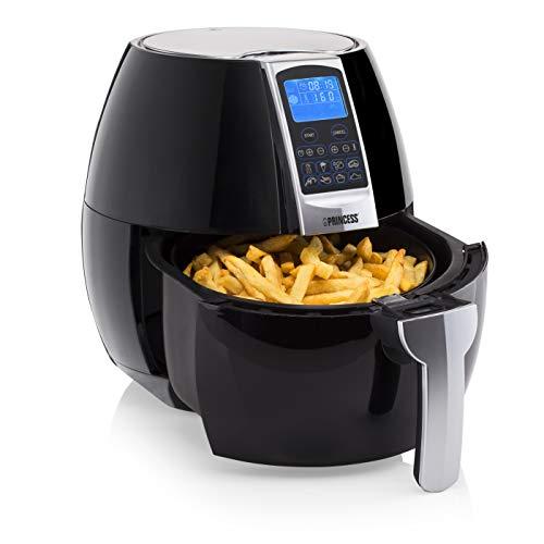Princess Friteuse sans huile Aerofryer XL - 800 g de frites - Pour 5 personnes - 3,2 L - 1 500 W - Panneau de contrôle digital
