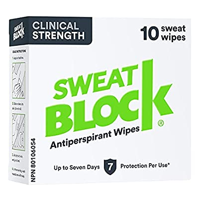 STOP EMBARRASSING SWEAT BEFORE IT STOPS YOU - Wear the clothes you love and stay confident with SweatBlock underarm antiperspirant wipes. Stop hiding sweaty armpits and start living confidently. Strong anti-sweat protection for men, women, and teens....