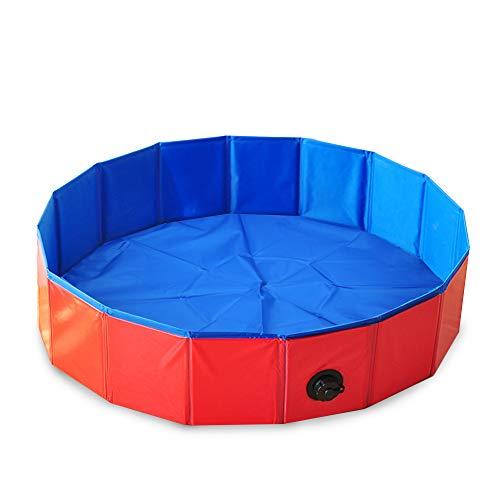 Decdeal Faltbarer Hundepool Hundebadewanne Planschbecken Swimmingpool für Hunde Größe Optional