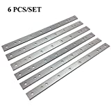 Planer Blades Knives for DeWalt DW735 7352 735X Thickness Planers with 13 Inch HSS Replacement Double edge 2 Set (6 pcs)