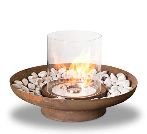 Planika Tondo Commerce [Round Ethanol Burner]: No Decorative Pebbles